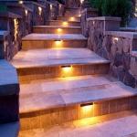 Уличные лестничные светильники