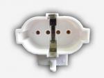 Патрон для люминесцентных ламп LST 23.434 2G7, для КЛЛ PL-S 4pin, вставной, крепление на цапфы