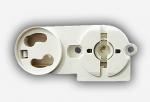 Патрон для люминесцентных ламп LST 15.553 G13 торцевой поворотный + стартёродерж