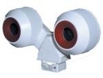 Патрон для люминесцентных ламп LST 16.852 G5 T5 сдвоенный IP67 (водо- и пылезащищенный) под лампу d16мм, серый