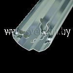 Отражатель Zercale 500 1000002 Т5-24 (для ламп T5 24Вт, 54,9см)