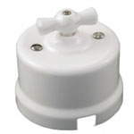 Выключатель перекрестный 10А 250В В1-203-01 65x48mm Белый