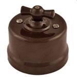 Выключатель 1-кл. проходной 10А 250В В1-201-02 65x48mm Коричневый