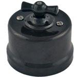 Выключатель 1-кл. проходной 10А 250В В1-201-03 65x48mm Черный