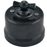 Выключатель перекрестный 10А 250В В1-203-03 65x48mm Черный