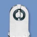 Патрон для люминесцентных ламп (ламподержатель) LST 15.711 G13 стоечный поворотный c вертикальной направляющей