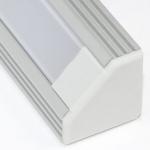 Алюминиевый профиль Zercale Z-440 накладной угловой, для светодиодной ленты SMD 3528/5050, комплект 2 м