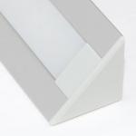 Алюминиевый профиль Zercale Z-445 накладной угловой, для светодиодной ленты SMD 3528/5050, комплект 2 м