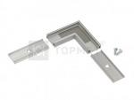 L-соединитель Topmet 77410001 SURFACE10 для соединения под прямым углом, анодированный алюминий