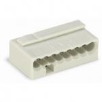 Клеммная колодка 8-проводная WAGO 243-308 MICRO PUSH WIRE для распределительных коробок одножильных проводников, светло-серый