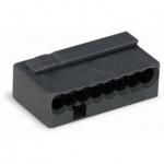 Клеммная колодка 8-проводная WAGO 243-208 MICRO PUSH WIRE для распределительных коробок одножильных проводников, тёмно-серый