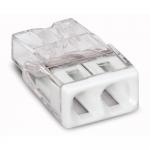 Клемма компактная 2-проводная WAGO 2273-202 COMPACT PUSH WIRE для распределительных коробок, без пасты, белый / прозрачный