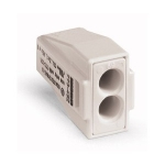 Клемма соединитель с зажимом 2-проводная WAGO 773-492 PUSH WIRE для медных проводников, светло-серый