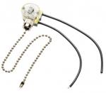 Выключатель GTV AE-WLLAN1-20, для бра и торшеров, с цепочкой, чёрный