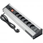 Удлинитель для офиса GTV AE-PBMUL6S6U-53 MULTI, угловой, 6 x гнёзд SCHUKO, 4 x HUB USB, 2xUSB 5V 2.1A, с кабелем питания 1.8м, серебряный