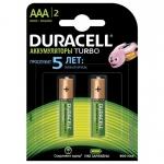 Аккумуляторы DURACELL 5000394001176 TURBO, AAA, 850mAh, 2шт