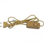Сетевой шнур с диммером Feron 6900-11 DM103-200W, 230V 1,5+0,5м, золото