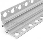 Алюминиевый профиль Topmet G4000620s UNI-TILE12 PLUS 90° 2000мм, перфорированные монтажные отверстия, анодированный алюминий
