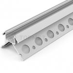 Алюминиевый профиль Topmet G3000620s UNI-TILE12 PLUS 270° 2000мм, перфорированные монтажные отверстия, анодированный алюминий