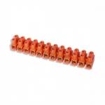 Винтовой зажим GTV LZ-40MM0-00, 12 клемм, полиэтилен (PE), оранжевый