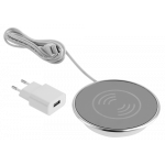 Зарядное устройство беспроводное GTV AE-ZLADLUX-40 LUX, USB-разъем, источник питания, кабель USB 1.5м, 10Вт, 2A, для встраивания в мебель