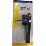 Вилка электрическая угловая GTV AE-VA1UNI-10 VA1UNI, 16A, 220-240V, 50-60Hz, без провода, плоский черный корпус из термопластика