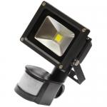 Прожектор светодиодный JazzWay 469060105212 PFL-10w/CW/BL/SENSOR, с датчиком движения