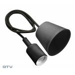 Светильник подвесной GTV OS-MINIOE27-20 MINIO Е27, IP20, AC220-240V, 1м, черный