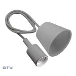 Светильник подвесной GTV OS-MINIOE27-80 MINIO Е27, IP20, AC220-240V, 1м, серый