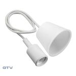 Светильник подвесной GTV OS-MINIOE27-10 MINIO Е27, IP20, AC220-240V, 1м, белый