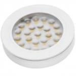 Светильник светодиодный встраиваемый/накладной GTV VASCO LD-VA24CB-10, 12V DC, 1,7W, 24 SMD3528, IP20, 150lm, 3000K, 200см провод с miniAMP (2 болта, лента 3M), белый