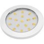 Светильник светодиодный накладной LUMINO LD-LU16ZB-10, 12V DC, 1.5W, 16 SMD3528, IP20, 70-85lm, 6400K, провод 2м с мини-AMP, белый