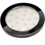 Светильник светодиодный накладной LUMINO LD-LU16CB-20, 12V DC, 1.5W, 16 SMD3528, IP20, 70-85lm, 3000K, провод 2м с мини-AMP, чёрный