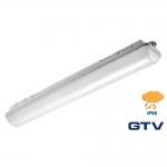 Светильник светодиодный герметичный накладной GTV LD-HER36W-ZB-E GERMINO, 36W, 2800лм, AC220-240V, 50/60Hz, PF>0,5, RA>80, IP65, 120°, 6400K, 148cm, серый корпус
