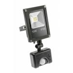 Прожектор светодиодный GTV IN-FLS10WC-64 INNOVO , 10W, 600lm, AC220-240V, 50/60 Hz, IP65, 6400K, c датчиком движения, черный корпус