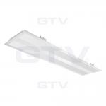Светильник светодиодный накладной GTV LD-VE2120W-50 панель VERONA, 50W, 4000К, IP20/IP44, AC220-240V, 50-60Hz, 5600lm, 120x30cm, 140°, белый корпус