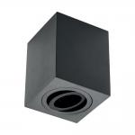 Светильник потолочный GTV OS-SEN5097KWCZ-00 SENSA, 90x90x115mm, IP20, max.1x50W, чёрный