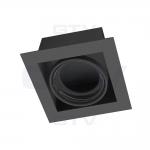 Светильник потолочный встраиваемый GTV OP-PIREO1-20 PIREO, IP20, чёрный