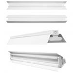 Отражатель GTV OS-REF236-00, для светильника с открытой лампой OSE-236, белый, симметричный