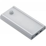 Светильник светодиодный LD-PIRUSB-53 COMA 1W, IP20, 120°, 4000K, 40-50lm, с проводом USB 0.5м, для шкафов, беспроводной, с датчиком движения 3м/60°, алюминий