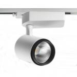 Светильник светодиодный трековый Gracion T01 50W 45° 4K TС CRI90 W+BR, True Color, 4000K, SHARP,  белый+черное кольцо