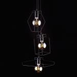 Светильник подвесной Nowodvorski 9666 FIORD, IP20, E27(max.3x60W), черный