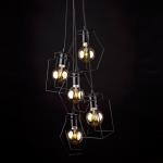 Светильник подвесной Nowodvorski 9665 FIORD, IP20, E27(max.5x60W), черный