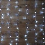 """Гирлянда светодиодная NEON-NIGHT 235-035  """"Светодиодный Дождь"""", 12Вт, 144LED, 1.5х1.5м, 230В, IP20, контроллер 8 режимов, свечение с динамикой, прозрачный провод, белые диоды"""