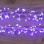 """Гирлянда светодиодная NEON-NIGHT 303-613 """"Мишура LED"""", 35Вт, 576LED, 6м, 230В, IP20, свечение с динамикой, прозрачный провод, синие диоды"""
