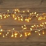 """Гирлянда светодиодная NEON-NIGHT 303-601 """"Мишура LED"""", 18Вт, 288LED, 3м, 230В, IP20, свечение с динамикой, прозрачный провод, желтые диоды"""