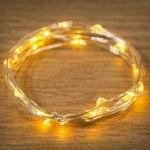 """Гирлянда светодиодная NEON-NIGHT 303-001 """"Роса"""", 2Вт, 20LED, 2х6м, 4.5В, IP67, постоянное свечение, прозрачный провод, желтые диоды"""