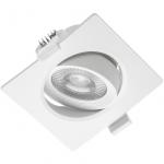 Светильник встраиваемый светодиодный GTV LD-VLRKW0538-CB VOLARE, 5W, 400lm, 3000K, AC175-250V, 50/60 Hz, PF>0,5, RA>80, IP20