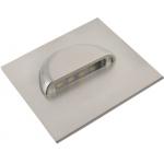 Светильник светодиодный лестничный GTV LD-ESKA084-51 ESCADA, 0.8W, 70lm, 4000K, 12V, 120°, IP20, квадратный