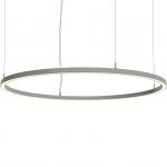 Светильник светодиодный подвесной TECHNOLED Ring 1200 3K W, 100Вт, 8400Лм, 3000К, 1200x60x80, белый, подвес 2000мм